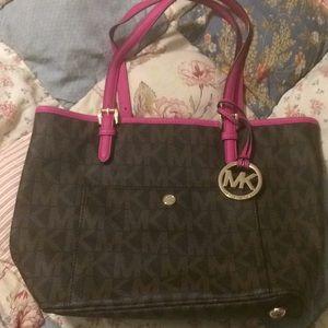 Michael Kors handbag with dark print trim